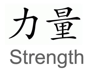 chinese-symbol-strength